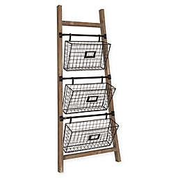 Kate and Laurel Cannon 3-Piece Basket Display