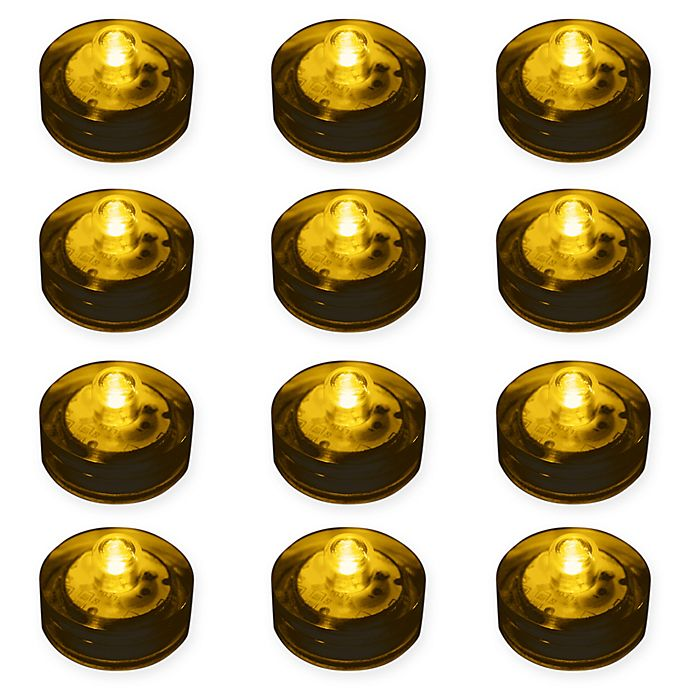 Alternate image 1 for 12-Count Submersible LED Lights in Amber