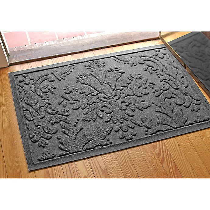 Alternate image 1 for Weather Guard™ Damask 23-Inch x 35-Inch Door Mat