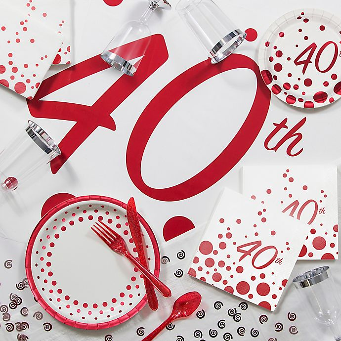 Sparkle and Shine Ruby 40th Anniversary Giant Banner Anniversary Decorations