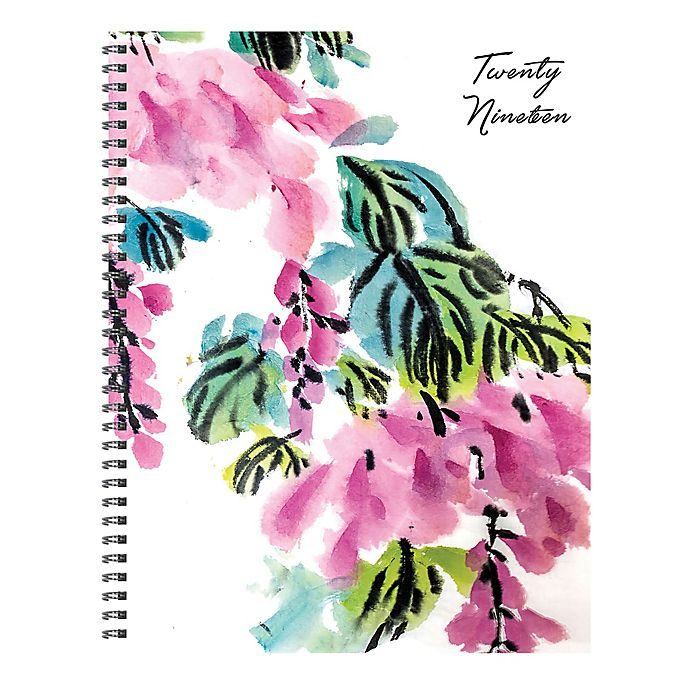 Alternate image 1 for Floral 2019 Large Weekly/Monthly Planner