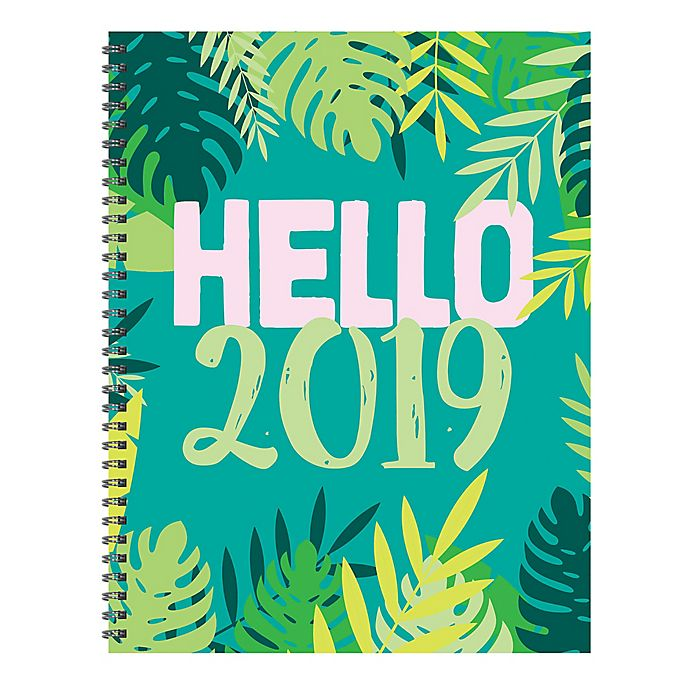 Alternate image 1 for Hello 2019 Large Weekly/Monthly Planner