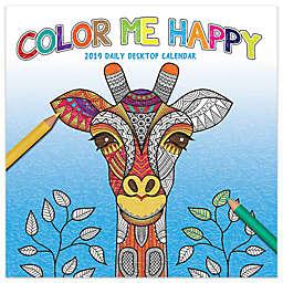Color Me Happy 2019 Daily Desktop Calendar