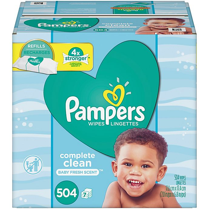 Pampers 174 Baby Fresh Wipes 504 Count Refill Bed Bath Amp Beyond