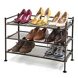 Seville Classics 3-Tier Mesh Utility Shoe Rack