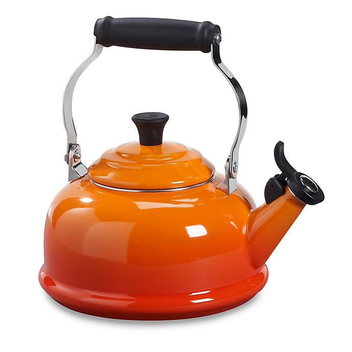 Alternate image 1 for Le Creuset® 1.7 qt. Classic Whistling Tea Kettle in Flame