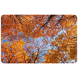 Foflor Looking Autumn Leaves Kitchen Mat In Orange