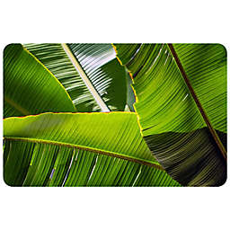 FoFlor Banana Leaves Kitchen Mat in Green