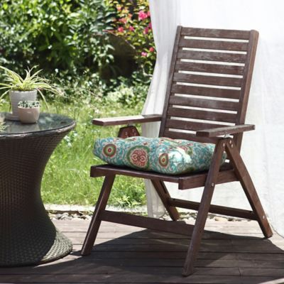 Waverly 174 Lexie Outdoor Dining Chair Cushion In Blue Bed