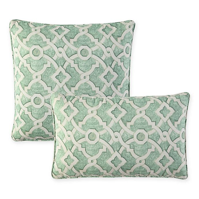 Alternate image 1 for Waverly® Lexie Outdoor Throw Pillow in Green