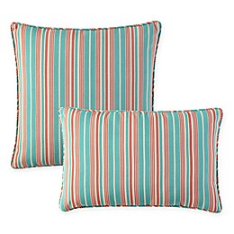 Waverly® Lexie Outdoor Throw Pillow in Blue/Red