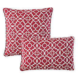 Waverly® Lexie Outdoor Throw Pillow in Red