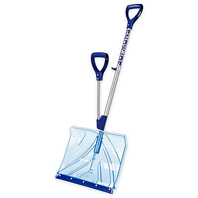 Snow Joe Shovelution 18-Inch Strain Reducing Snow Shovel in Blue