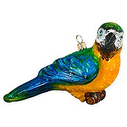 Joy To The World Collectibles Macaw Parrot Christmas Ornament in Blue/Yellow