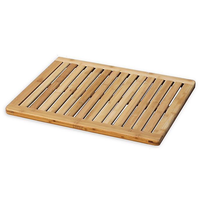 Alternate image 1 for 23.75-Inch x 17.75-Inch Bamboo Bath Mat