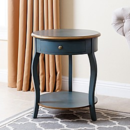 Abbyson Living® Clarence Round End Table in Turquoise/Gold