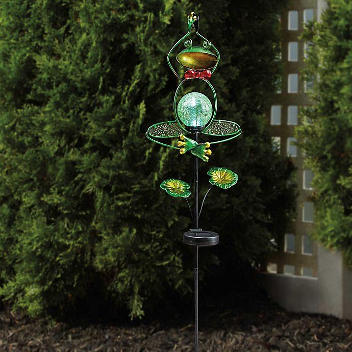 Alternate image 1 for Solar Yoga Frog Stake Light