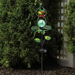 Solar Yoga Frog Stake Light