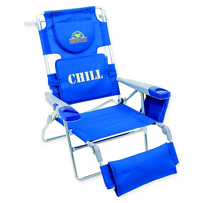 Alternate image 1 for Margaritaville® Folding Lounger Beach Chair in Blue