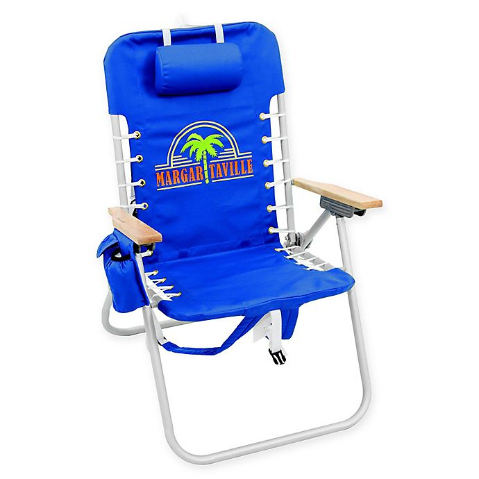 Alternate image 1 for Margaritaville® Hi-Boy Backpack Chair in Blue