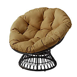 Destination Summer Papasan Wicker Chair in Brown