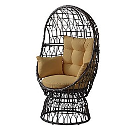 Destination Summer All-Weather Wicker Egg Swivel Chair