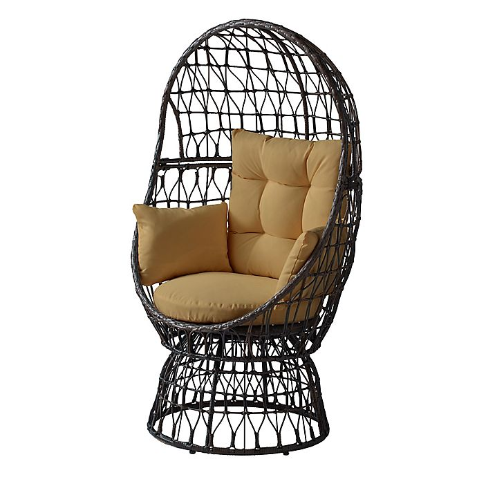 Alternate image 1 for Destination Summer All-Weather Wicker Egg Swivel Chair