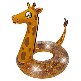 "Poolcandy 48"" Gold Giraffe Pool Float"