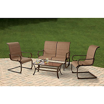 4-Piece Sling Seating Set in Brown
