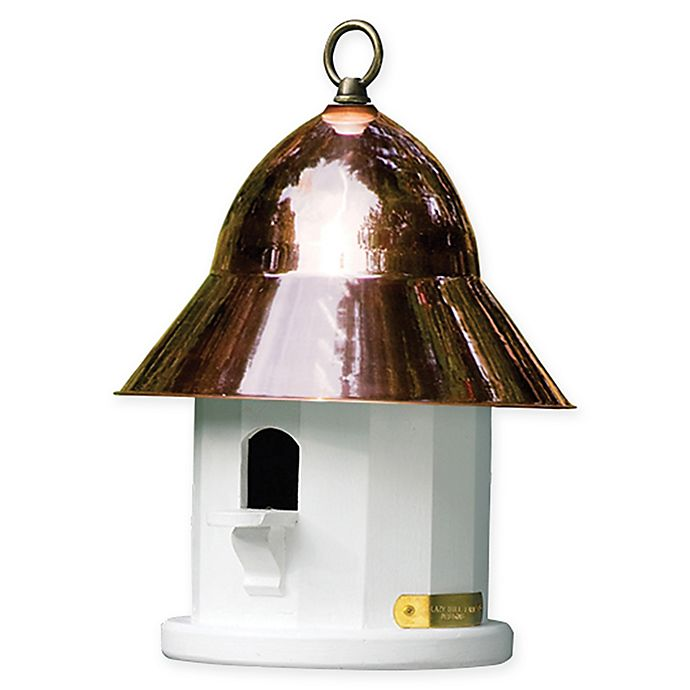 Alternate image 1 for Lazy Hill Copper Top Bird House in White