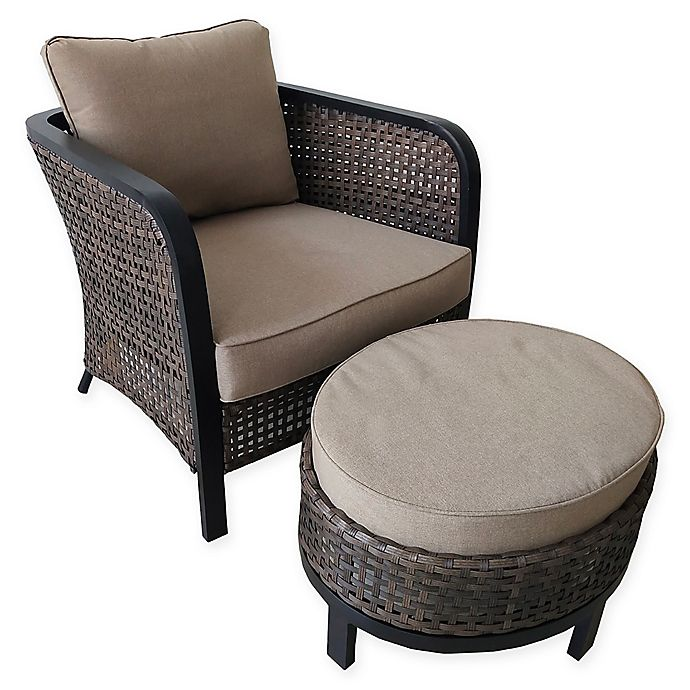 Astounding 2 Piece Cuddle Chair And Ottoman Set In Brown Dark Brown Bralicious Painted Fabric Chair Ideas Braliciousco