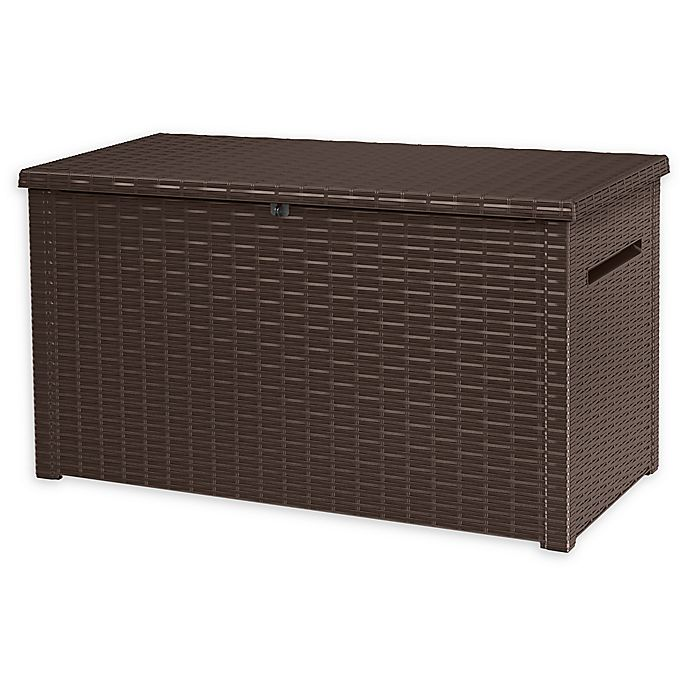 Alternate image 1 for Keter Java Outdoor Deck Storage Box in Brown