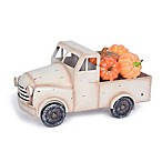 Metal Truck with Pumpkins Decorative Accent