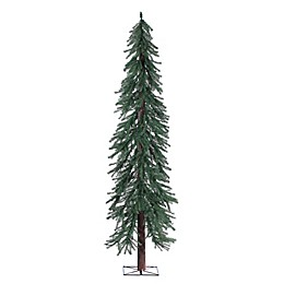 7-Foot Alpine Christmas Tree with Real Wood Trunk