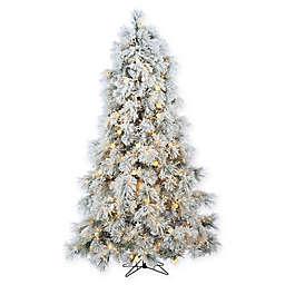 sterling 75 foot pre lit flocked arctic pine christmas tree