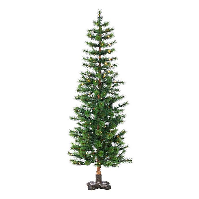 Alternate image 1 for 5-Foot Pre-Lit Woodland Spruce Artificial Christmas Tree