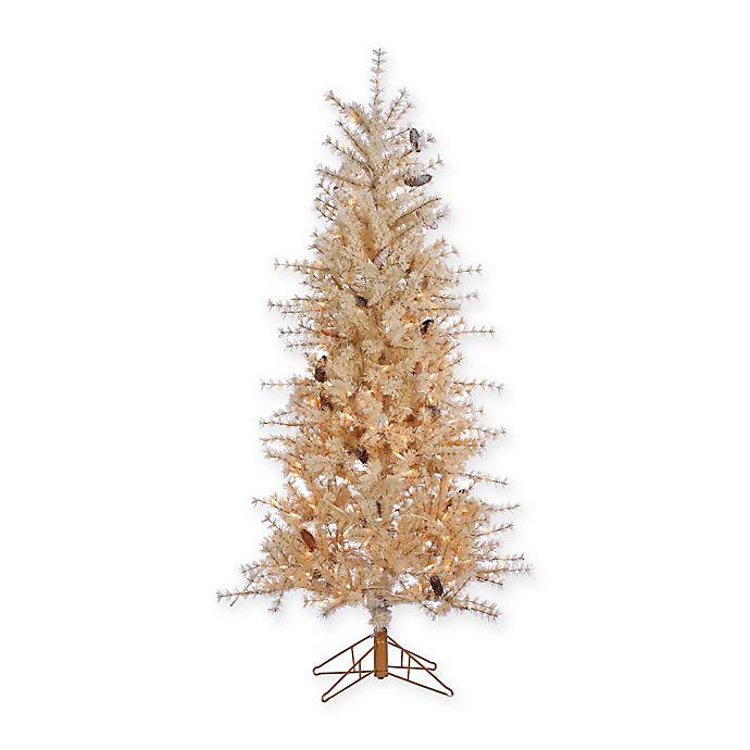 Artificial Christmas Tree Warehouse: Gerson 6-Foot Pre-Lit Hard Needle Buttercream Artificial