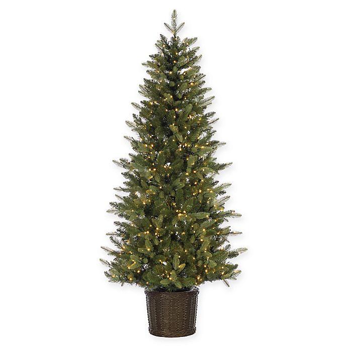 Artificial Christmas Tree Warehouse: Pre-Lit Ontario Pine Potted Artificial Christmas Tree