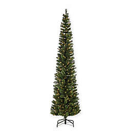 sterling hard mixed needle cashmere pre lit pencil christmas tree with clear lights
