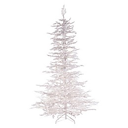Pre-Lit Twig Artificial Christmas Tree in White
