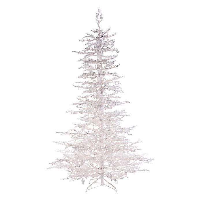 Pre Lit Christmas Twig Tree: Pre-Lit Twig Artificial Christmas Tree In White