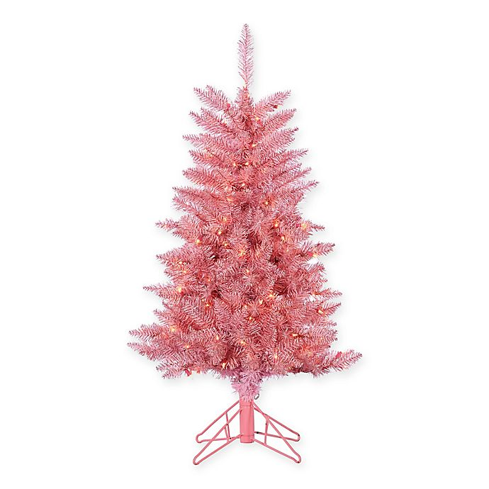 Pink Artificial Christmas Tree.Gerson Pink Tuscany Tinsel Artificial Christmas Tree