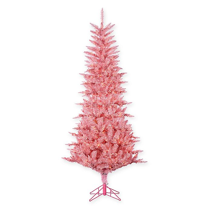 Pink Artificial Christmas Tree.Gerson Pink Tuscany Tinsel Artificial Christmas Tree Bed