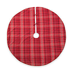 C&F Home Plaid Christmas Tree Skirt in Red