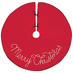 C&F Home Merry Christmas Tree Skirt in Red