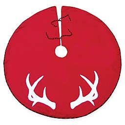 54-Inch Reindeer Antler Tree Skirt in Red