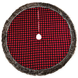 C&F Home Buffalo Check Tree Skirt in Red