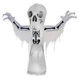 Inflatable Bare Bones Outdoor Halloween Decoration with Short Circuit and Thunder Effects