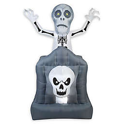 Inflatable Pop-Up Ghost in Haunted Tomb Outdoor Halloween Decoration