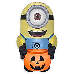Inflatable Minion Carl with Pumpkin Sack Outdoor Halloween Decoration
